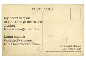 Diane Bayliss #WordsOfWelcome #1000wordsofwelcome @regmeuross