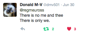 Donald M-V #WordsofWelcome