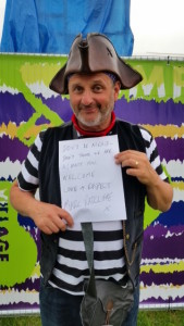 Mark Radcliffe #wordsofwelcome @regmeuross at Village Pump Folk Fest
