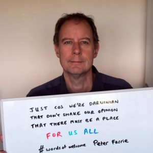 Peter Farrie #wordsofwelcome