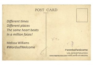 #WordsOfWelcome Postcards Melissa Williams