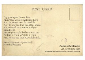 #WordsOfWelcome Postcards Peter Krijgsman