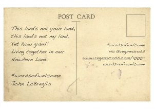 #WordsOfWelcome postcards John LoBreglio