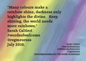 sarah caltieri #wordsofwelcome @regmeuross