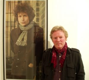 Reg photographed by Jerry Schatzberg - the photographer who took the original Blonde on Blonde cover picture behind me